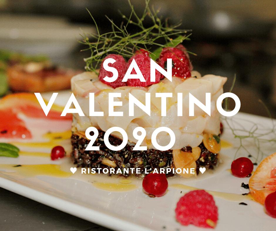 Menù San Valentino 2020 ristorante l'Arpione Castiglione della Pescaia